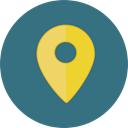 interface, pin, placeholder, signs, map pointer, Map Location, Map Point, Maps And Location SeaGreen icon