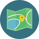 Map, Orientation, interface, location, position, Geography, Maps And Flags, Maps And Location SeaGreen icon