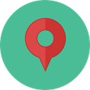 interface, pin, placeholder, signs, map pointer, Map Location, Map Point, Maps And Location CadetBlue icon