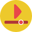 movie, Play button, video player, Multimedia Option, Music And Multimedia, Multimedia, Arrows, interface, music player Goldenrod icon