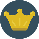 miscellaneous, king, crown, Queen, Royalty, Chess Piece DarkSlateGray icon