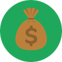 Business, banking, money bag, Dollar Symbol, Business And Finance, Money, Dollar, Currency, Bank SeaGreen icon