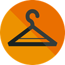 commerce, clothing, hanger, wardrobe, Closet, Tools And Utensils, Furniture And Household DarkOrange icon