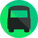 transportation, transport, vehicle, Bus, school bus, Automobile, Public transport SpringGreen icon