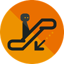 Device, sign, escalator, Signaling, Humanpictos DarkOrange icon