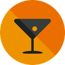 party, Alcohol, food, cocktail, leisure, drinking, straw, Alcoholic Drinks, Food And Restaurant DarkOrange icon