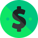 Business And Finance, Bank, exchange, Profits, Dollar Symbol, Business, Money, Currency SpringGreen icon