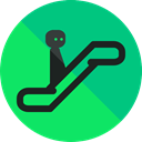 sign, escalator, stick man, Signaling, Device SpringGreen icon
