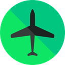 Airport, transportation, Plane, transport, flight, Aeroplane, airplane SpringGreen icon