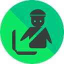check out, travel, luggage, baggage SpringGreen icon