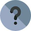 Info, button, help, question, question mark, Information, round, interface, Signaling DarkGray icon