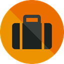 suitcase, travel, luggage, baggage, travelling, Tools And Utensils DarkOrange icon