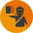 document, Identity, people, passport, travel, technology, identification, Signaling, Humanpictos DarkOrange icon