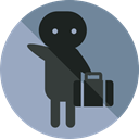 suitcase, luggage, baggage, travelling, Tools And Utensils, Signaling DarkGray icon