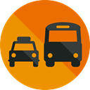 Cab, transportation, transport, vehicle, Bus, taxi, Automobile, Public transport Icon