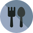 Fork, Restaurant, spoon, Cutlery, Tools And Utensils, Food And Restaurant DarkGray icon