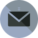 Email, envelope, Multimedia, Message, mail, interface, mails, envelopes, Communications DarkGray icon