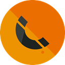 Telephone Call, phone, Call, telephone, technology, Conversation, Communications, phone call DarkOrange icon