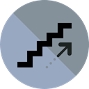 Stairs, floor, Signaling, Handrail DarkGray icon