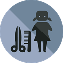 people, Professions And Jobs, Beauty, Hairdresser, Hair Salon, Humanpictos DarkGray icon