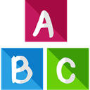Abc, Bricks, education, Alphabet, learning, Baby Toy, Kid And Baby DodgerBlue icon