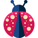 bug, insect, Animals, ladybug, Animal Kingdom Crimson icon