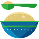 healthy, Porridge, Mush, Food And Restaurant, Jar, food, spoon Teal icon