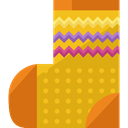 Clothes, clothing, sock, socks, fashion, Garment, Kid And Baby Goldenrod icon
