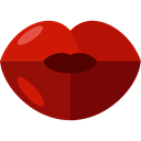 love, kiss, romantic, lips, Femenine, Body Part, Valentines Day, Love And Romance Firebrick icon