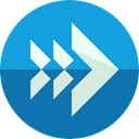 Multimedia, Arrows, reply, Reload, reply all, Orientation, interface, Direction, Multimedia Option DodgerBlue icon