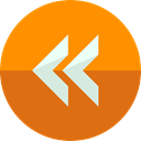 Arrows, Orientation, interface, rewind, Direction, Multimedia Option DarkOrange icon