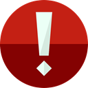 Alert, warning, exclamation, interface, danger, ui, signs Maroon icon