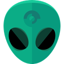 space, galaxy, extraterrestrial, people, user, Ufo, Avatar, Alien DarkCyan icon