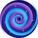 miscellaneous, science, Blackhole, space, galaxy, Astronomy Icon