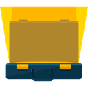 Business, Briefcase, Bag, suitcase, travel, portfolio DarkGoldenrod icon