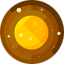 planet, science, education, Astronomy, solar system SaddleBrown icon