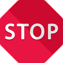stop, circulation, signs, traffic sign, stopping, Signaling Crimson icon