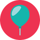 birthday, party, miscellaneous, Balloon, balloons, decoration, Celebration, carnival, new year, Birthday And Party Crimson icon