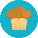 Bakery, baked, Food And Restaurant, cupcake, muffin, Dessert, sweet, food DarkTurquoise icon