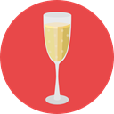 food, glass, champagne, drinks, Refreshment, Food And Restaurant, Birthday And Party Tomato icon