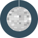 disco, Disco Ball, Mirror Ball, Birthday And Party, party, Dance, Club DarkSlateGray icon
