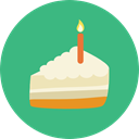 Bakery, baker, Cake Slice, Food And Restaurant, Birthday And Party, cake, food, Dessert, sweet, slice MediumSeaGreen icon