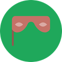 Mask, Fun, Celebration, carnival, Costume, Eye mask, Birthday And Party SeaGreen icon