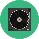 technology, turntable, Record Player, Music And Multimedia, music, music player, lp, vinyl MediumSeaGreen icon