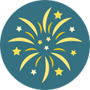 party, Rocket, Fireworks, Celebration, Birthday And Party SeaGreen icon