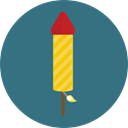 Petard, Birthday And Party, Rocket, Fireworks, Firecracker, Celebration, firework SeaGreen icon