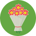 gift, nature, lovely, roses, Bouquet, floral OliveDrab icon
