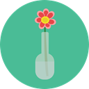 Flower, nature, petals, blossom, Botanical CadetBlue icon