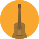 musical instrument, Orchestra, Acoustic Guitar, String Instrument, Music And Multimedia, music, guitar Goldenrod icon