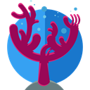 nature, Aquarium, Coral, Aquatic, Sea Life Purple icon